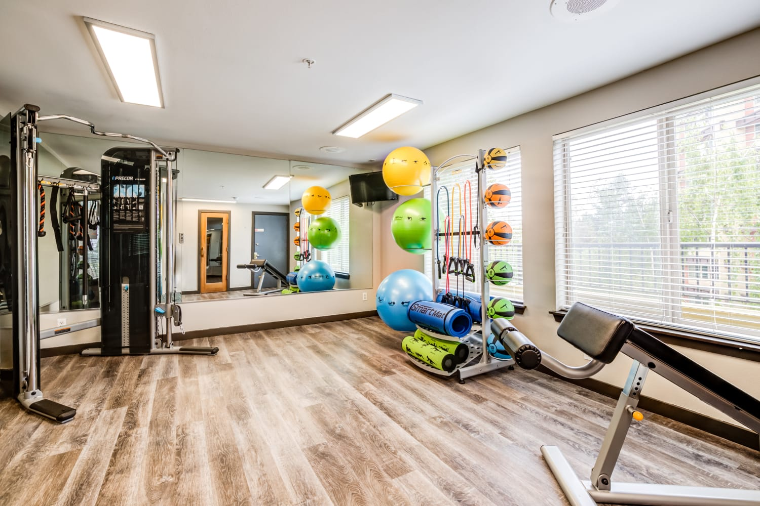 Fitness Center at Metropolitan Park Apartments in Seattle, Washington