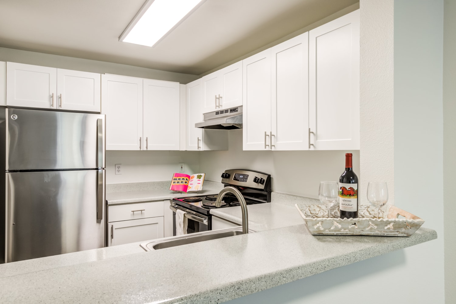 Breakfast bar at Metropolitan Park Apartments in Seattle, Washington