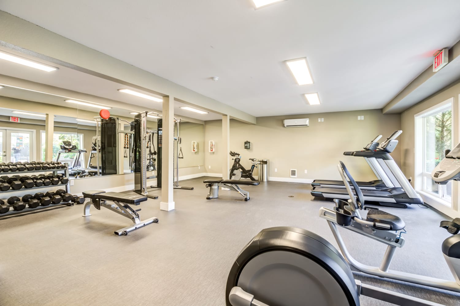 Edgewood Park Apartments offers a Renovated Fitness Center in Bellevue, Washington