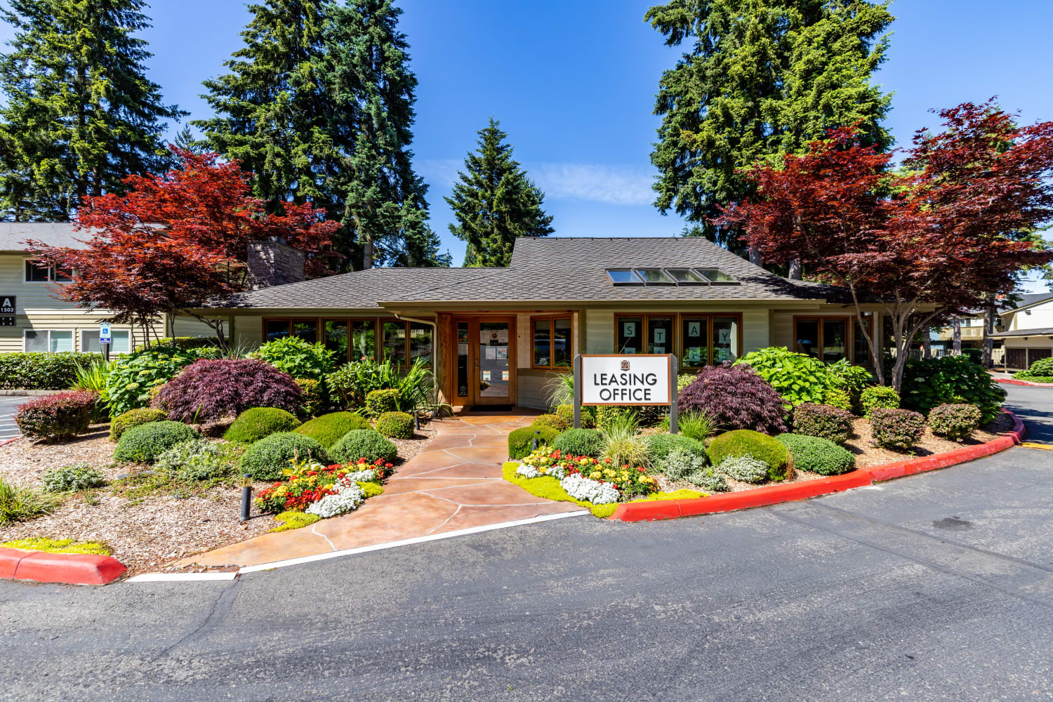 Leasing office at Edgewood Park Apartments in Bellevue, Washington