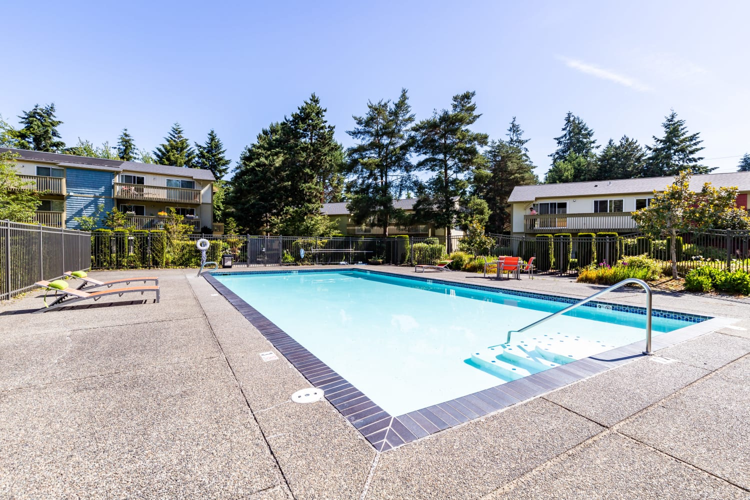 Swimming Pool at Apartments in Bellevue, Washington