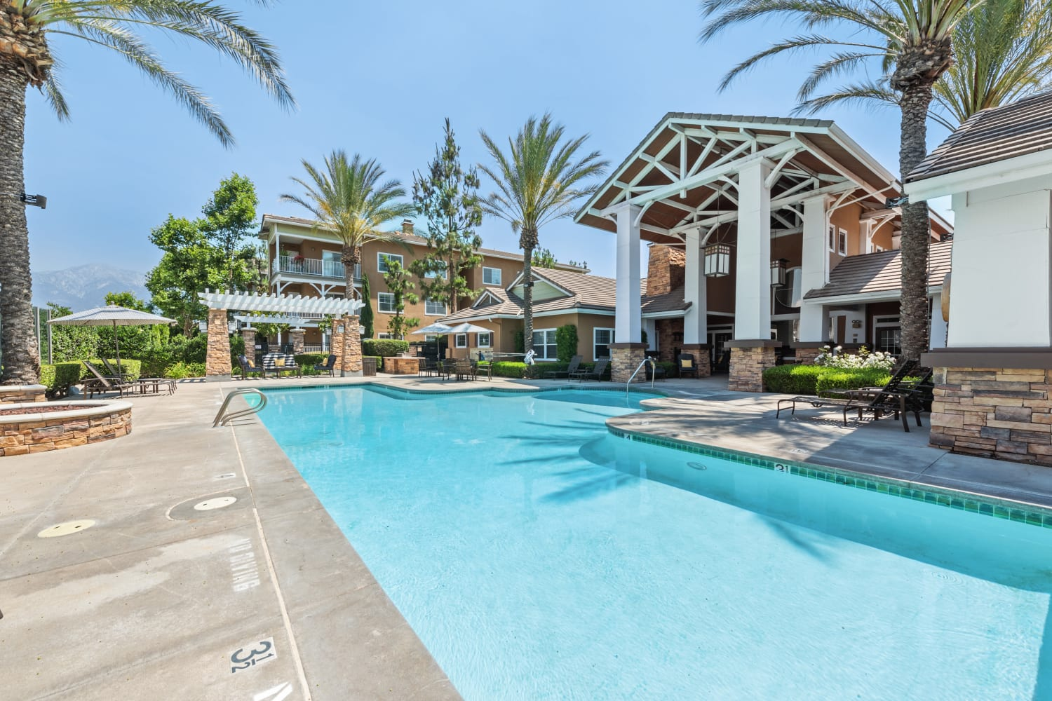 The Village on 5th offers a Luxury Swimming Pool in Rancho Cucamonga, California