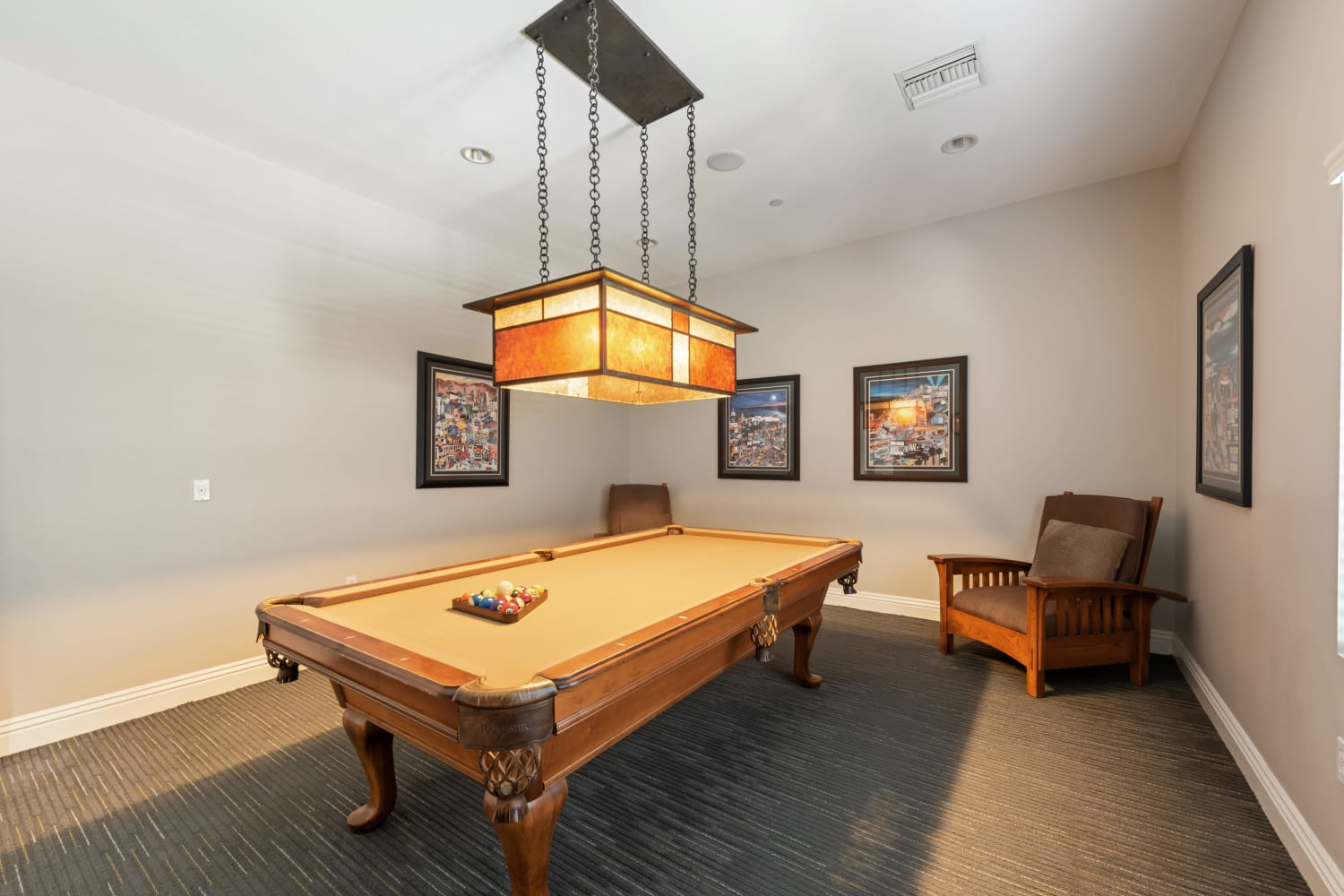 Enjoy Apartments with a billiards area at The Village on 5th