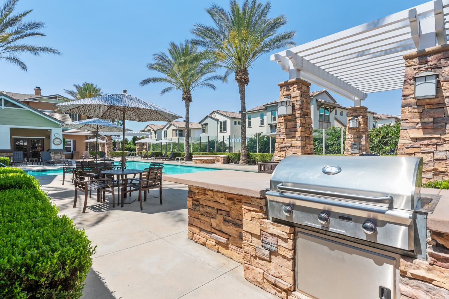 Our Apartments in Rancho Cucamonga, California offer a BBQ Area