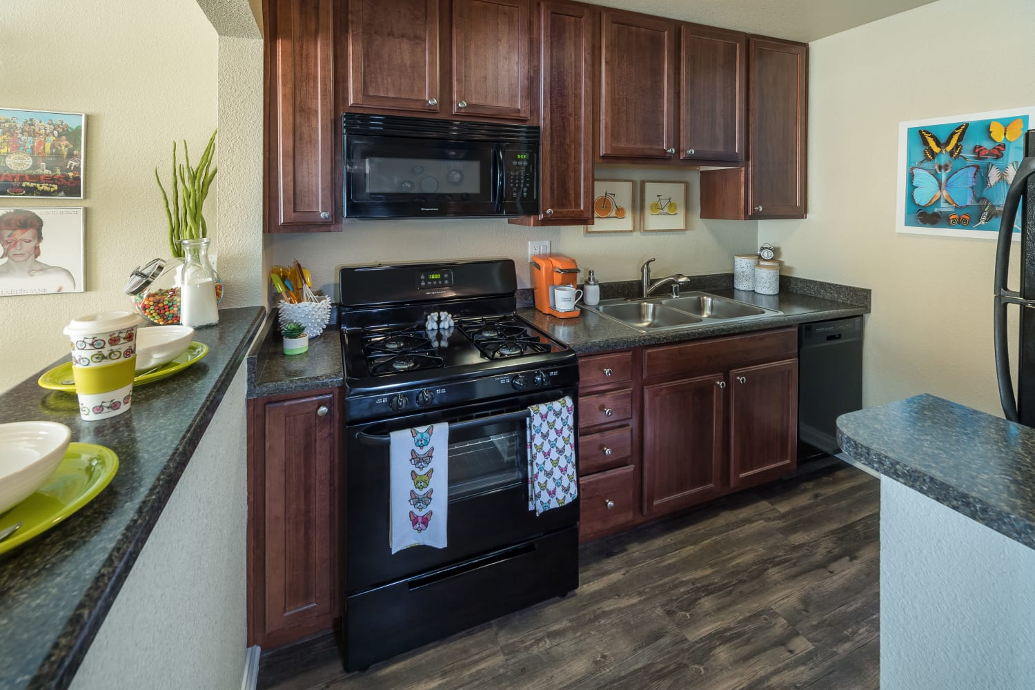 Kitchen at UCA Apartment Homes in Fullerton, California