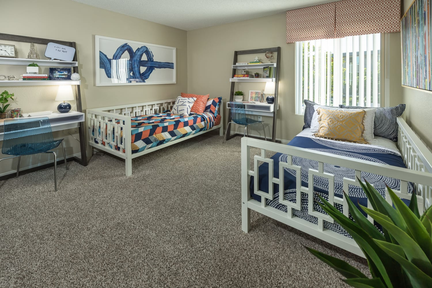 Bedroom at UCA Apartment Homes in Fullerton, California