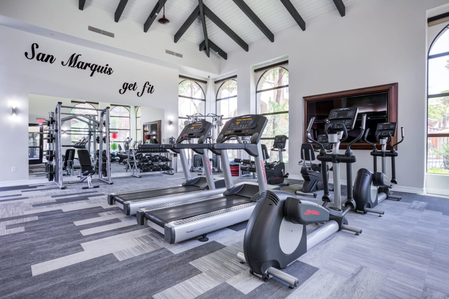 State-of-the-art fitness center at San Marquis in Tempe, Arizona