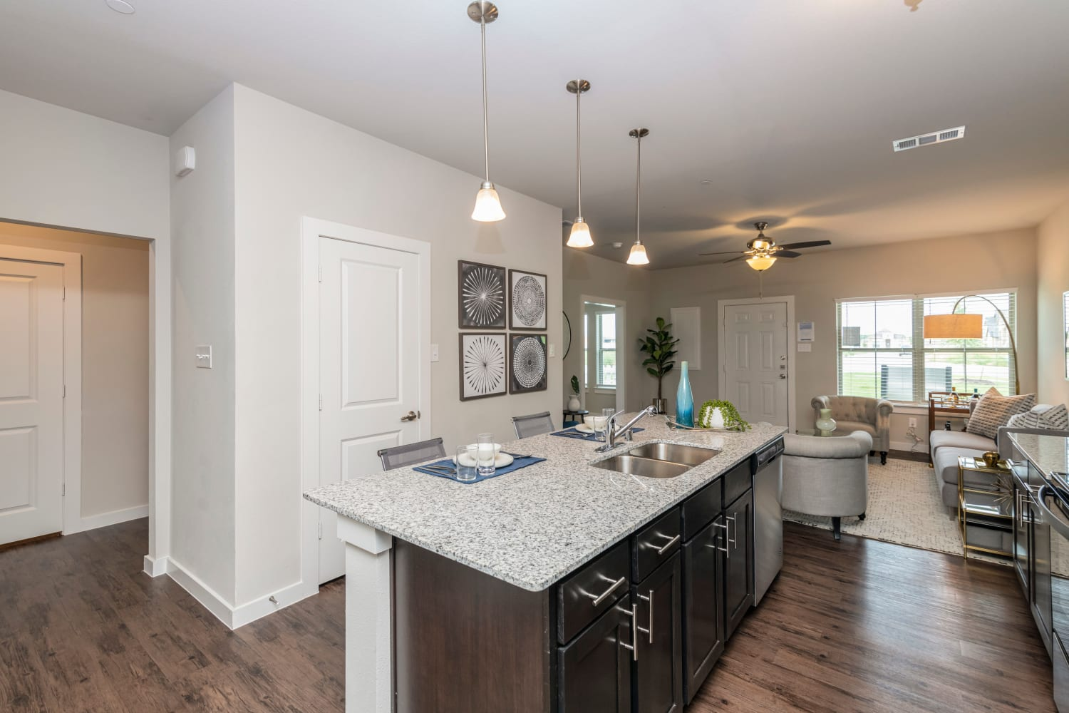 Model kitchen in a unit at Waxahachie, Texas