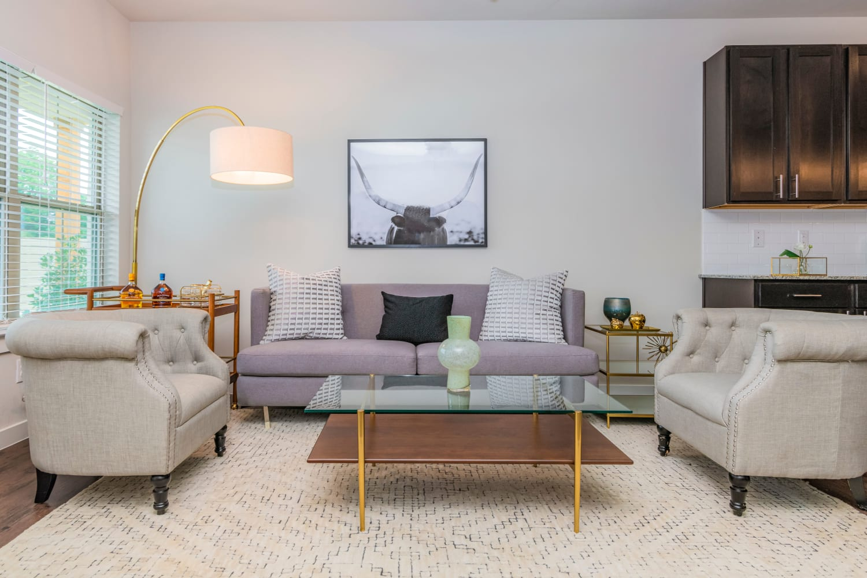 Stylish living room at Waxahachie, Texas