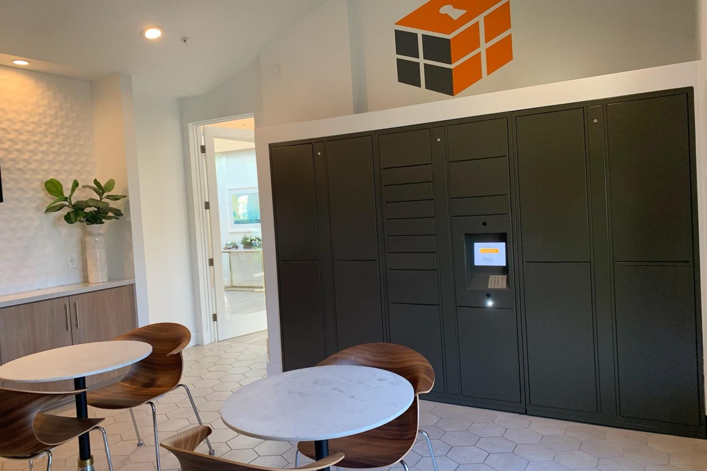 Parcel lockers at Sonoran Vista Apartments in Scottsdale, Arizona