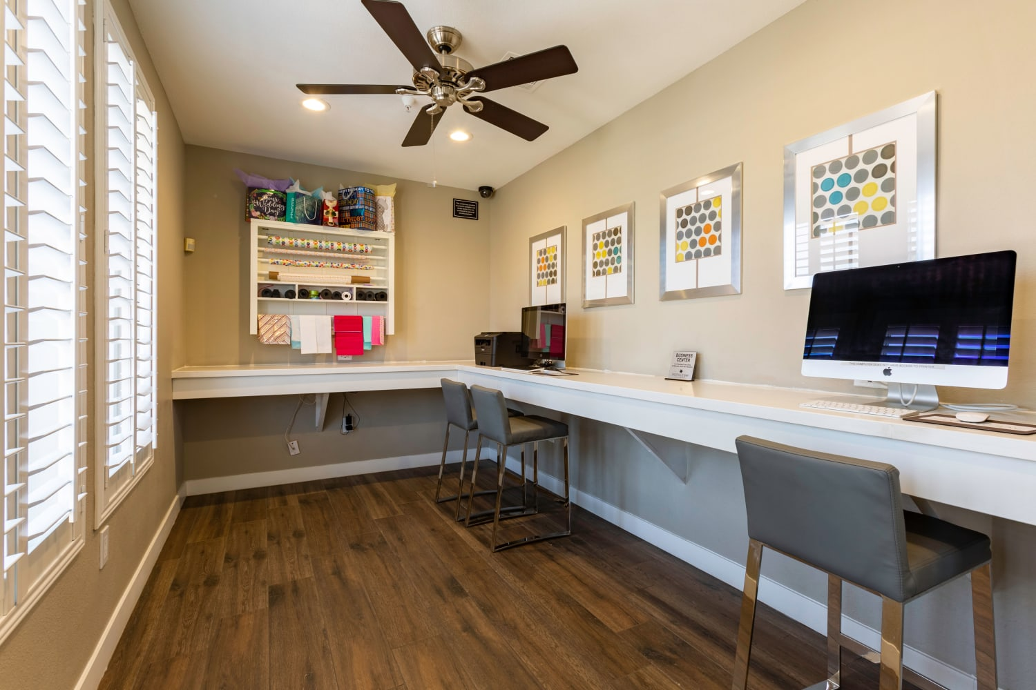Business center at Ocotillo Bay Apartments in Chandler, Arizona