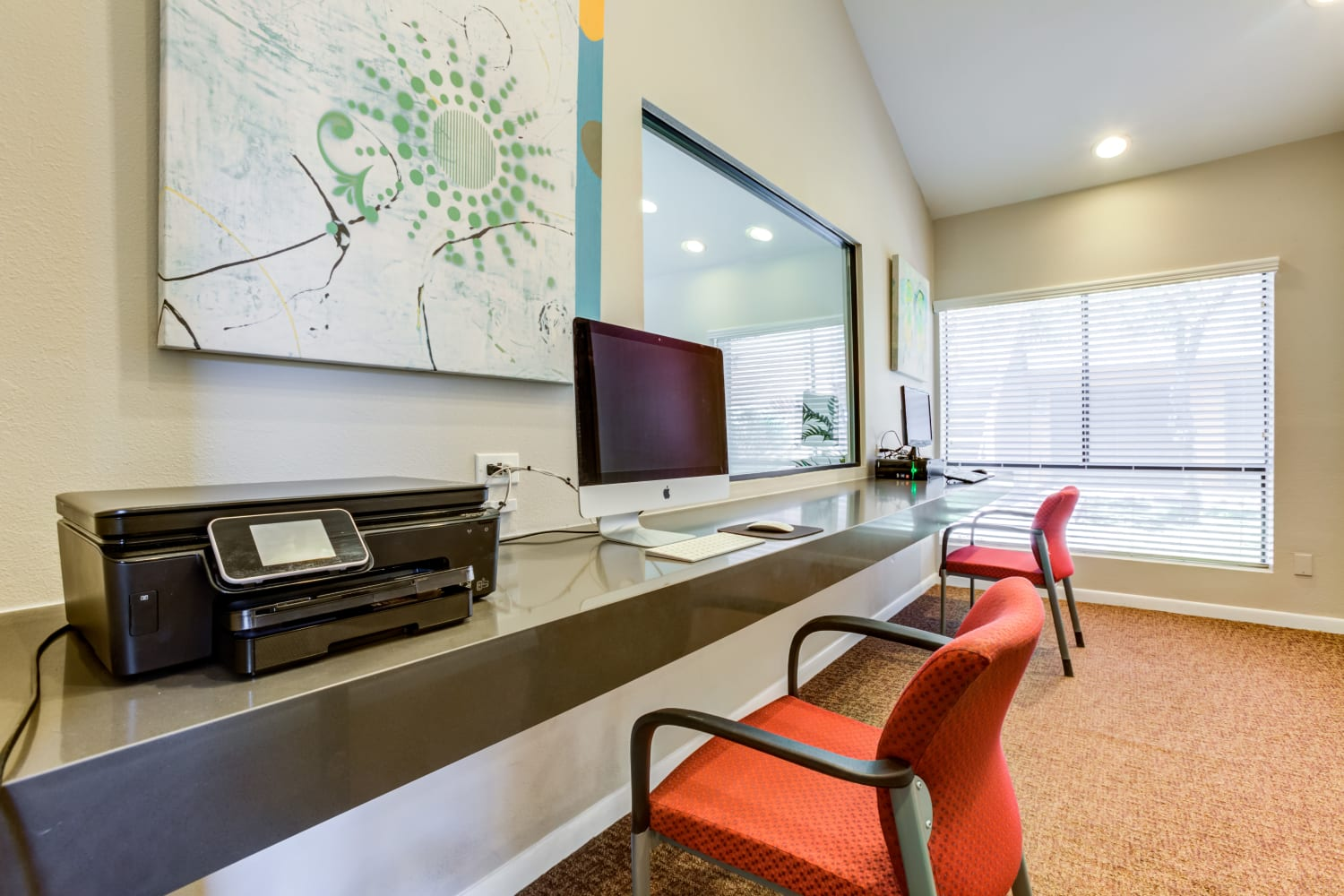 Business center at Waterford Place Apartments in Mesa, Arizona