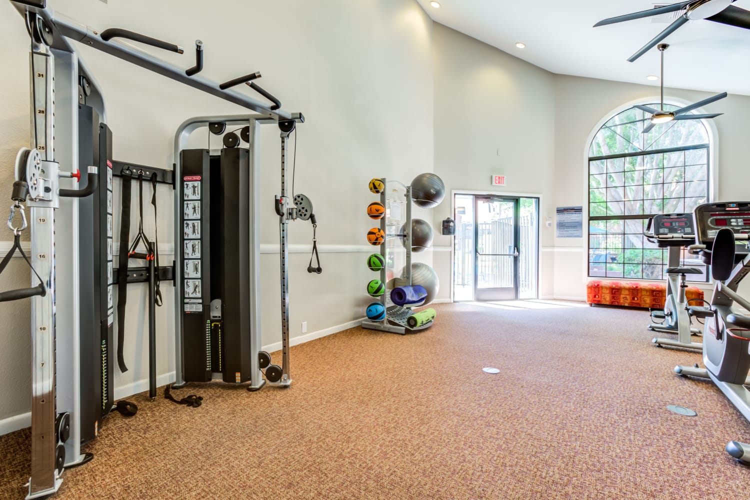 Free weights at Waterford Place Apartments in Mesa, Arizona
