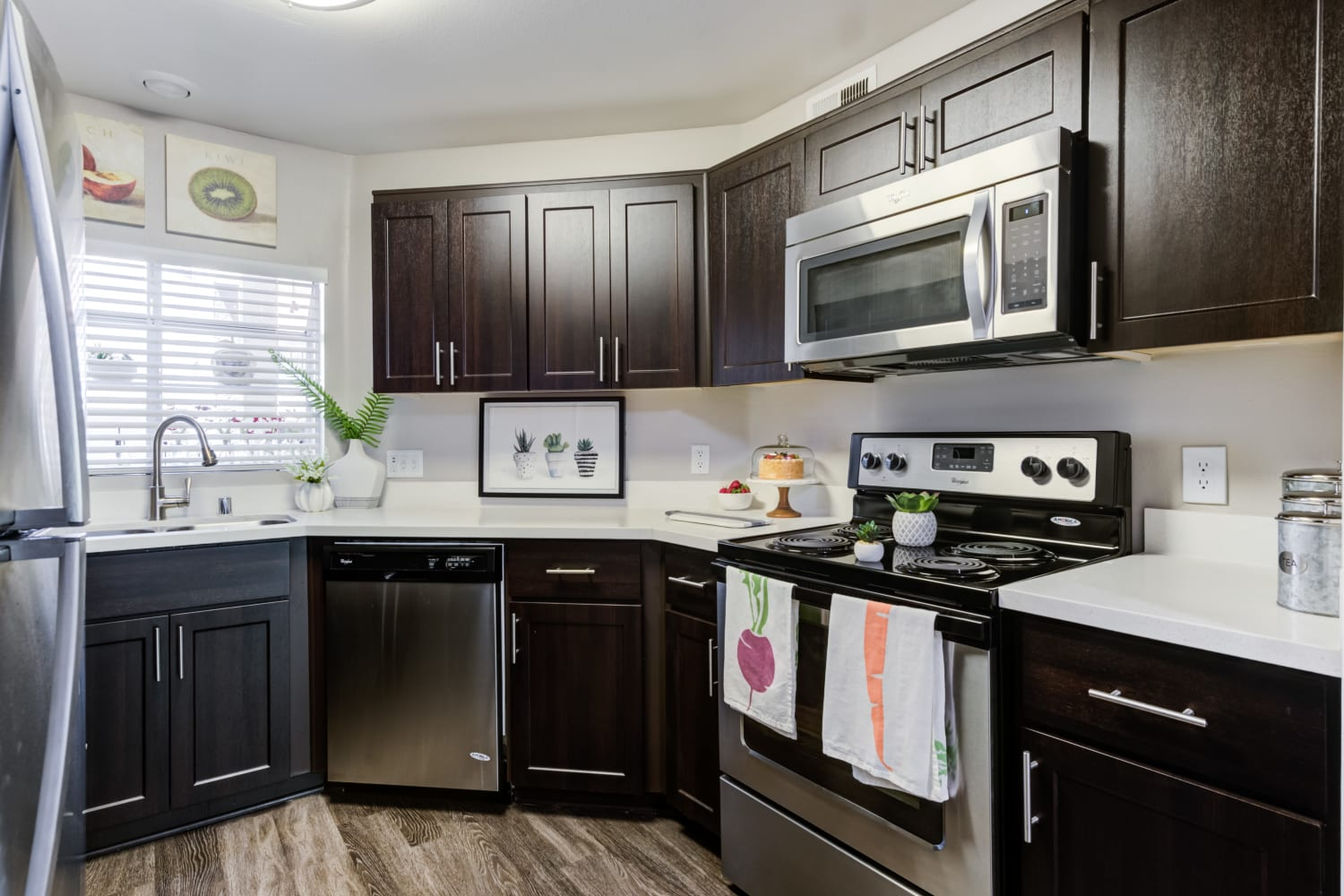 Private Kitchen at Sierra Heights Apartments in Rancho Cucamonga, California
