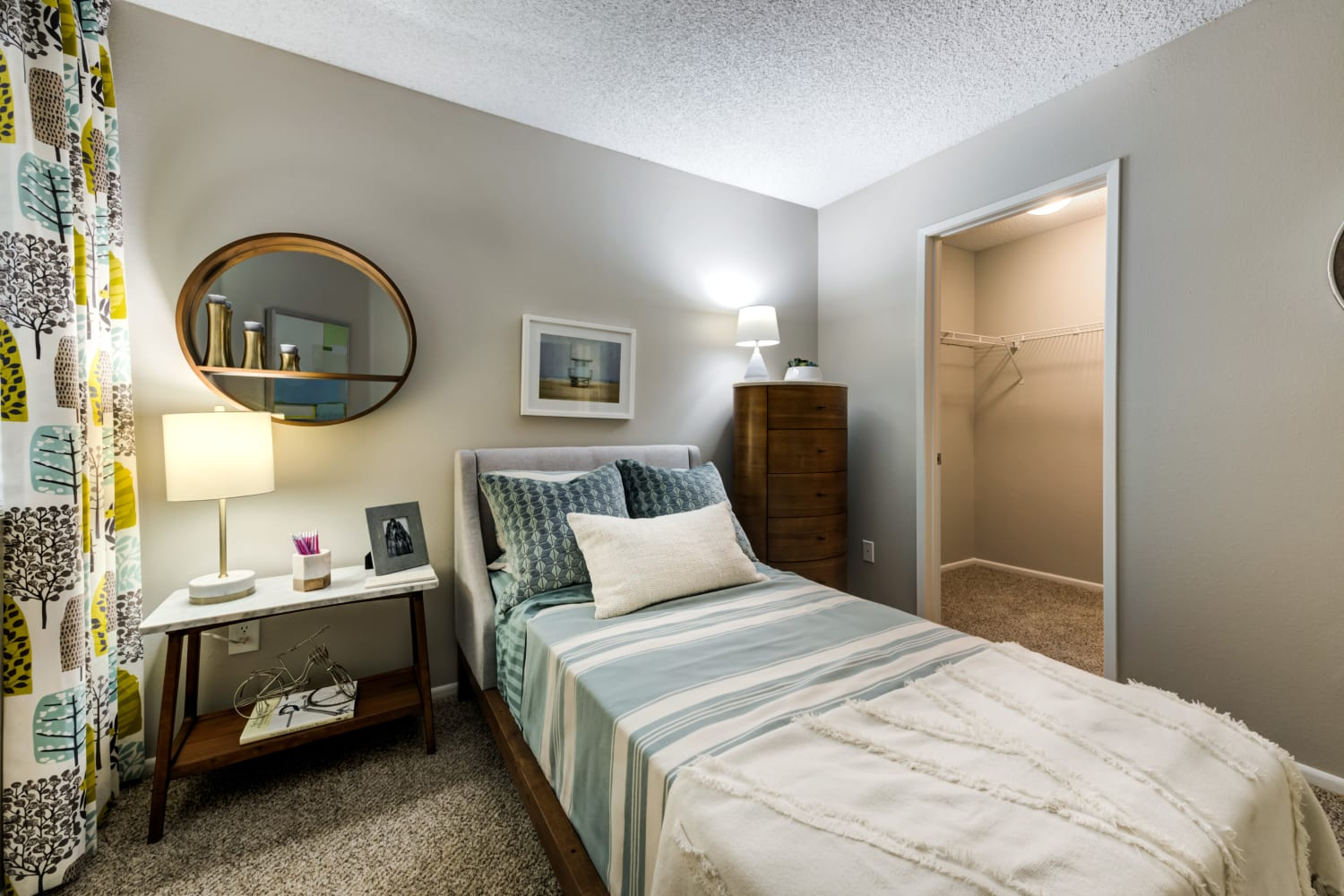 Bedroom at Sierra Heights Apartments in Rancho Cucamonga, California