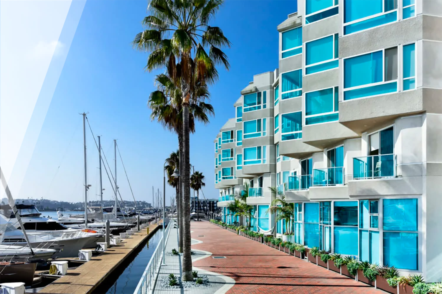 Boardwalk along the marina at our Esprit property at E&S Ring Management Corporation in Los Angeles, California