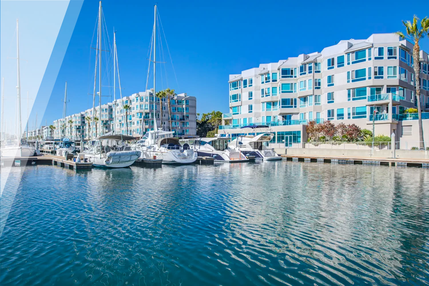 View of the marina and community from the water at our Esprit property at E&S Ring Management Corporation in Los Angeles, California