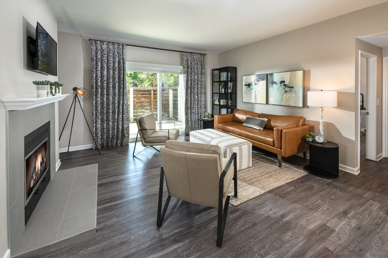 Clubhouse community space at Cotton Wood Apartments in Dublin, California