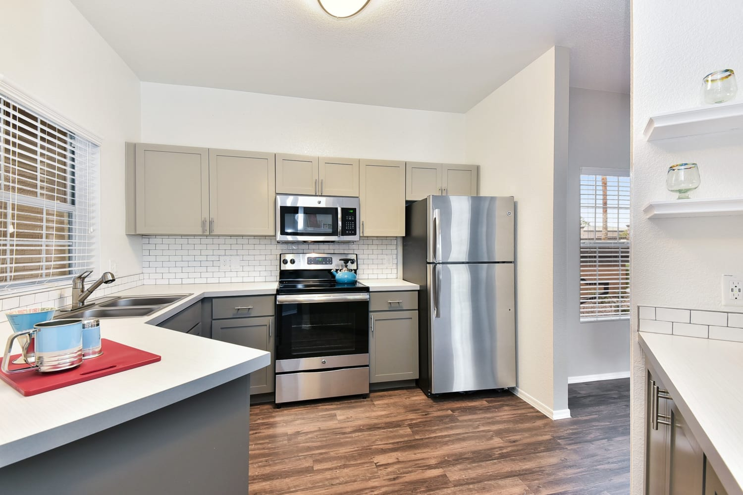 Model kitchen at Luxe @ Ocotillo in Chandler, Arizona