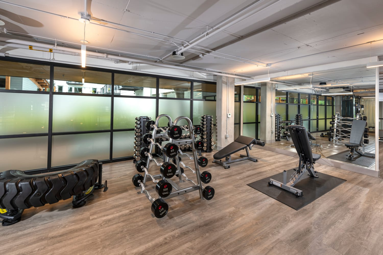 Fitness center at Nightingale in Redmond, Washington