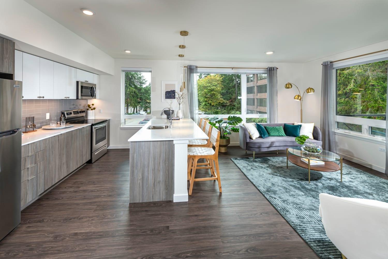 Beautiful model apartment at Nightingale in Redmond, Washington
