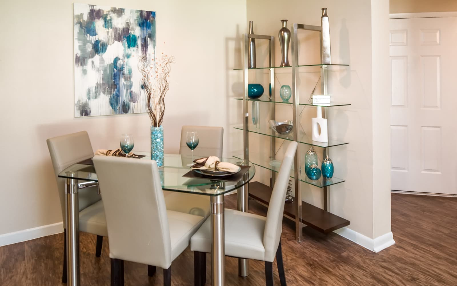 dining area in an Huntington Place apartment