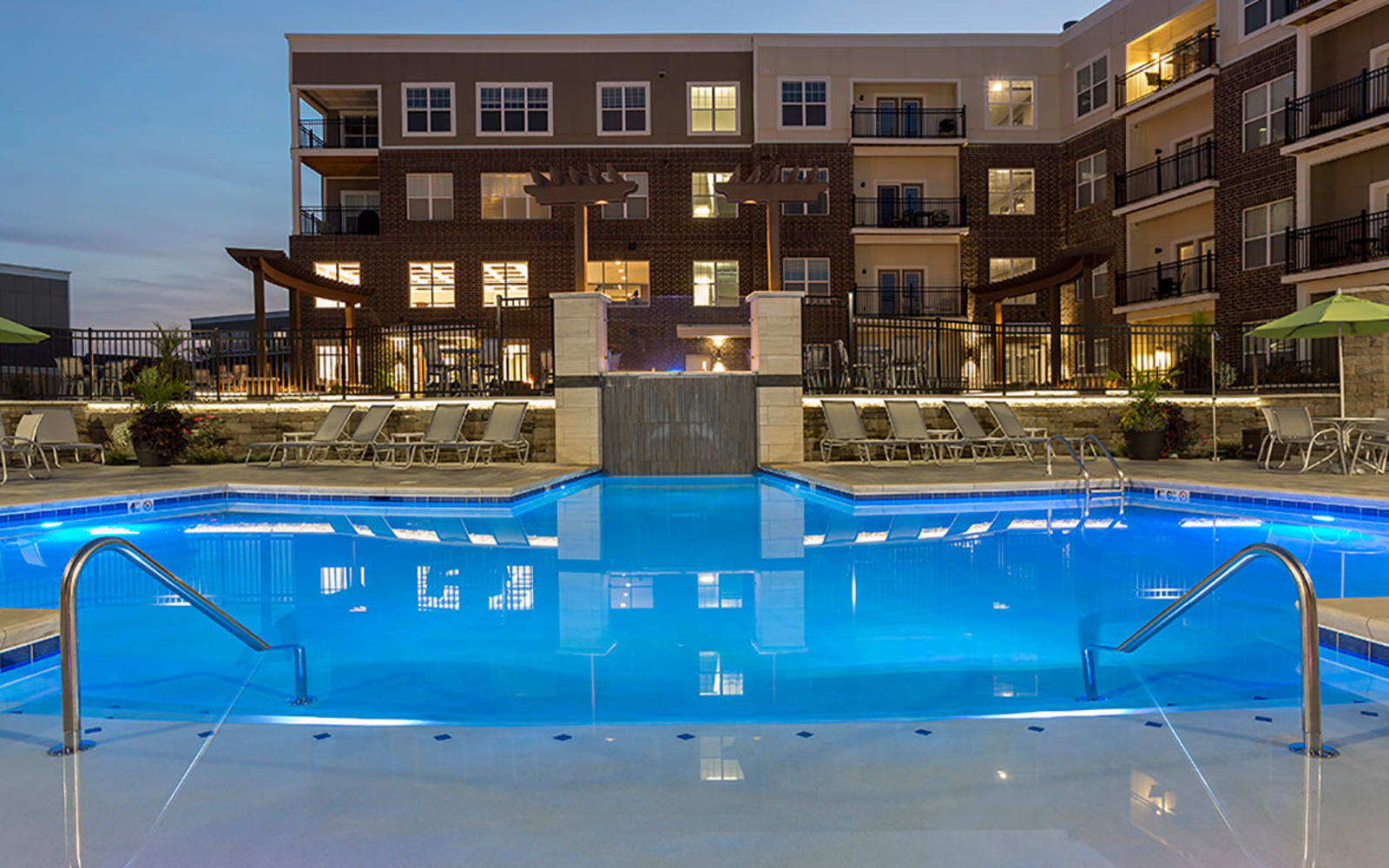 Beautiful swimming pool at Allure Apartments in Centerville, Ohio