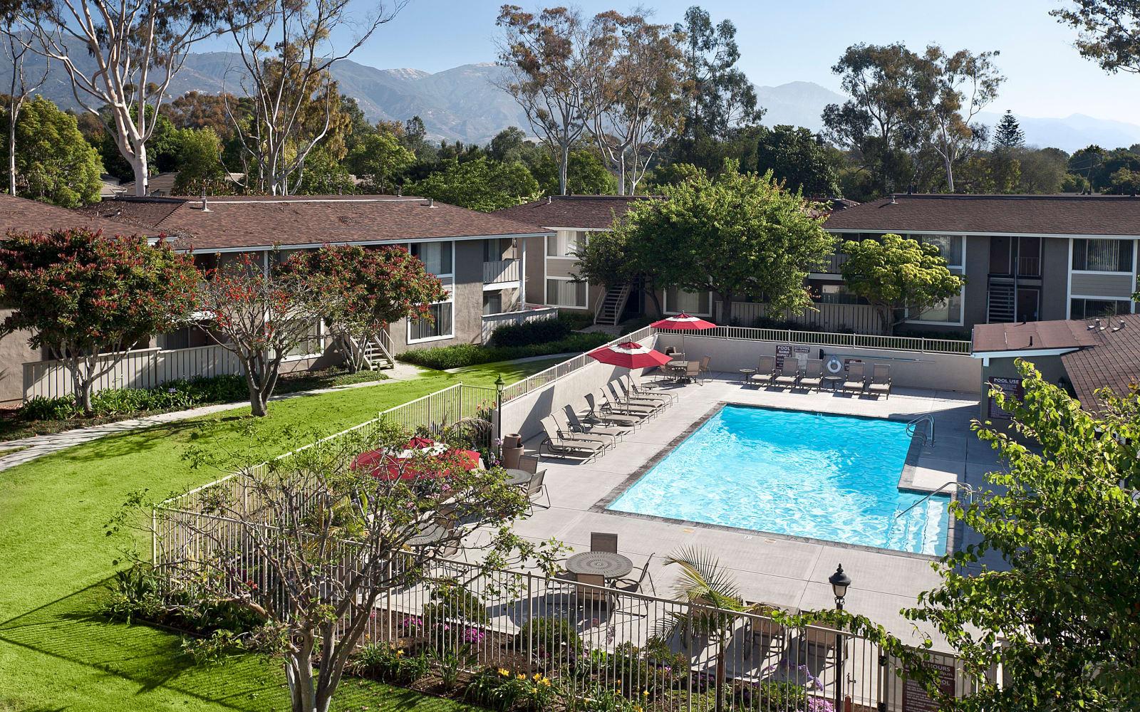 Exterior of Patterson Place Apartments in Santa Barbara