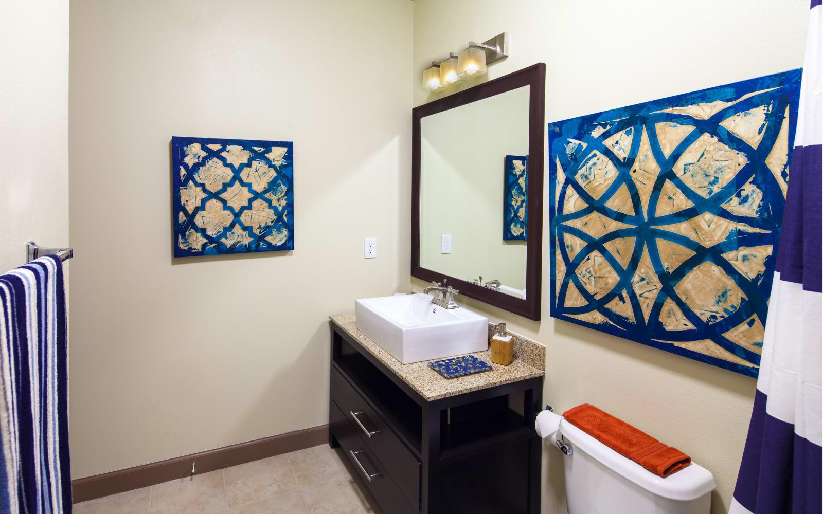 Bathroom at The High Grove in Baton Rouge, Louisiana