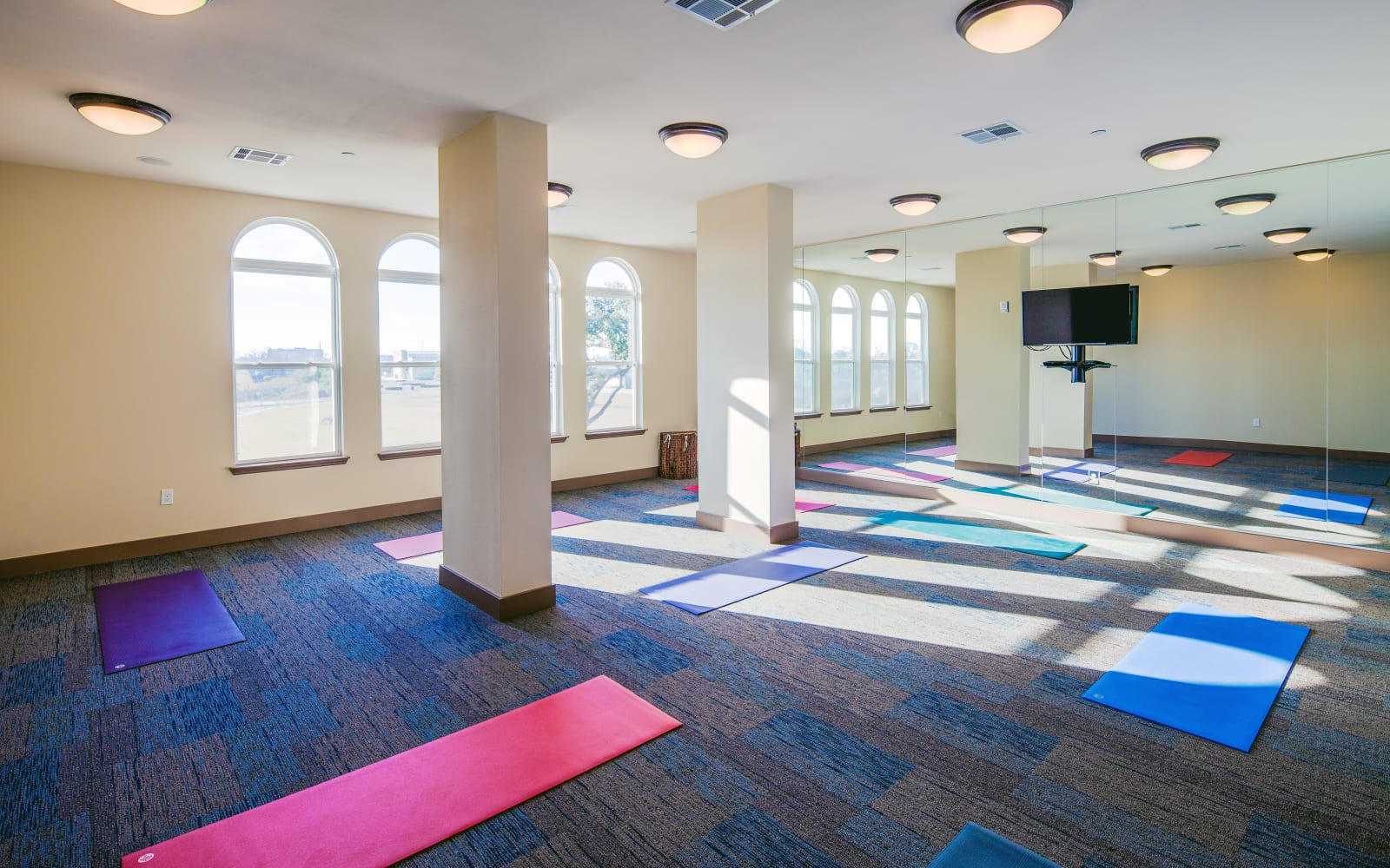Yoga room at The High Grove in Baton Rouge, Louisiana