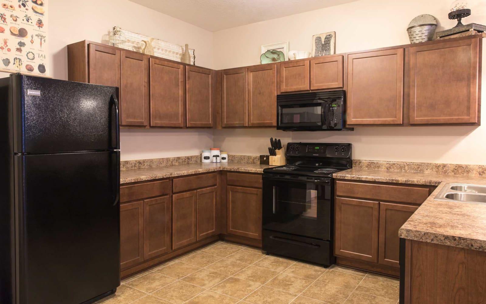Apartment kitchen at Ironwood in Altoona, Iowa