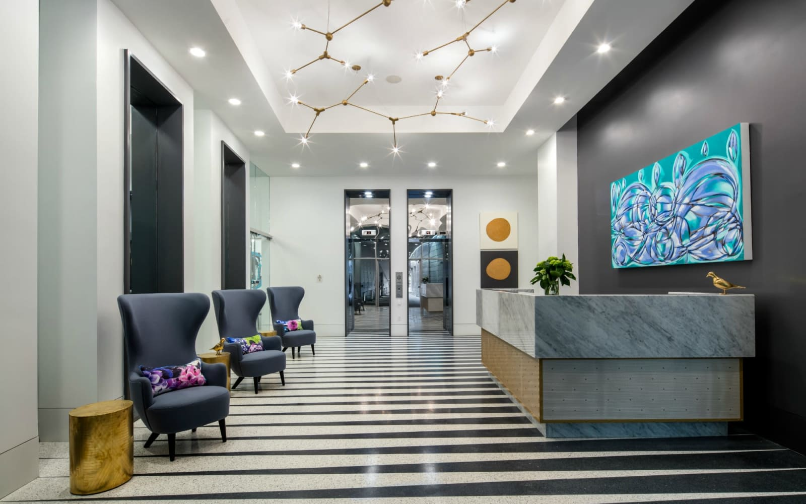 Spacious lobby at The Beacon at South Market in New Orleans, Louisiana