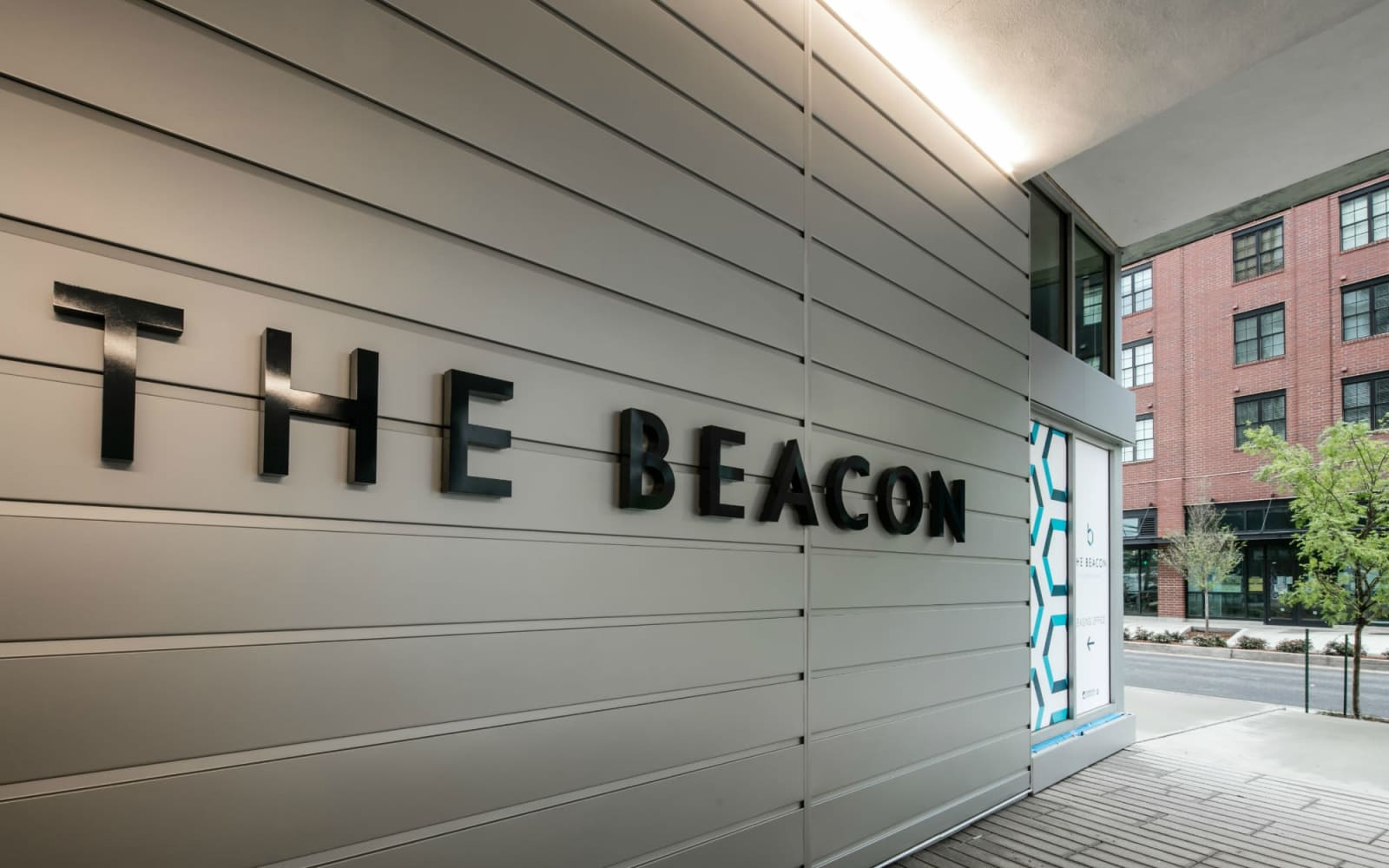Entrance to The Beacon at South Market in New Orleans, Louisiana