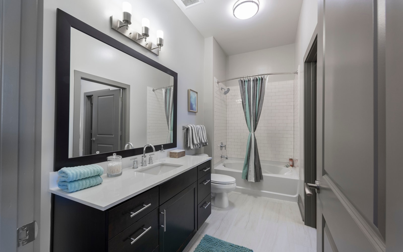 Spacious bathroom at The Addison in Baton Rouge, Louisiana