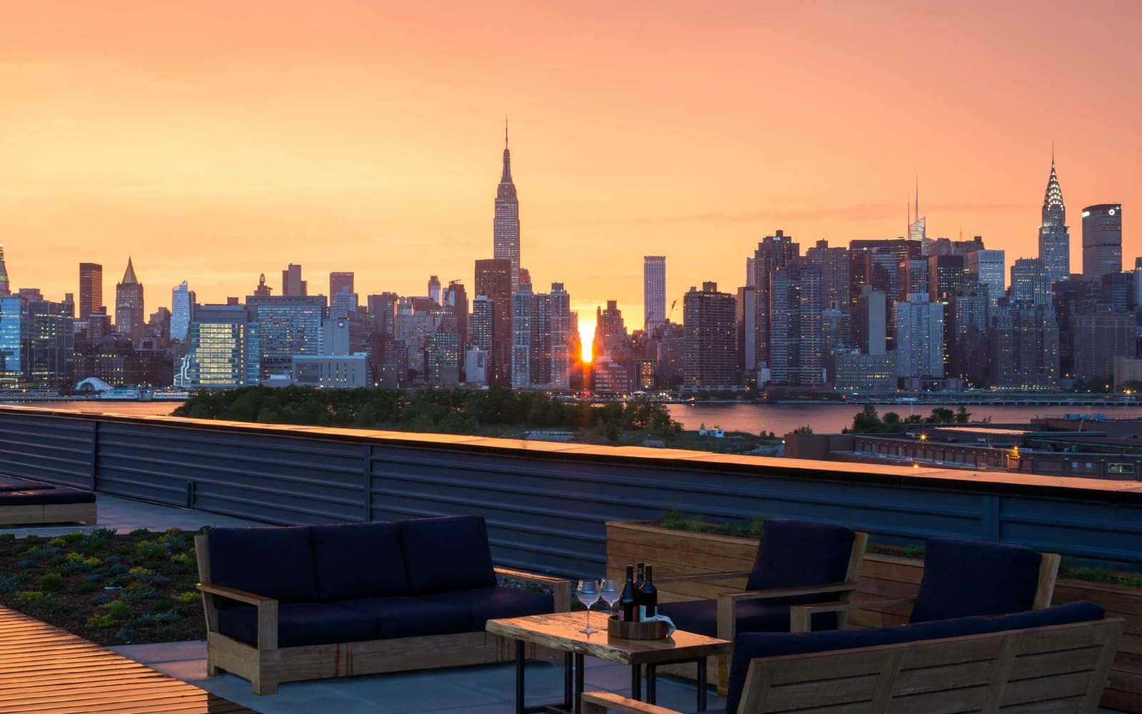 Beautiful terrace view at Eleven33 in Brooklyn, New York