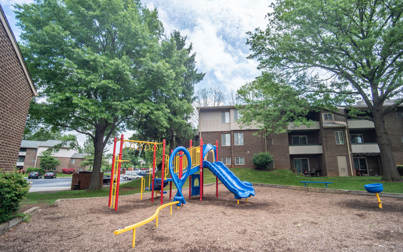 Children's playground at Hunt Club Apartments in Cockeysville, Maryland