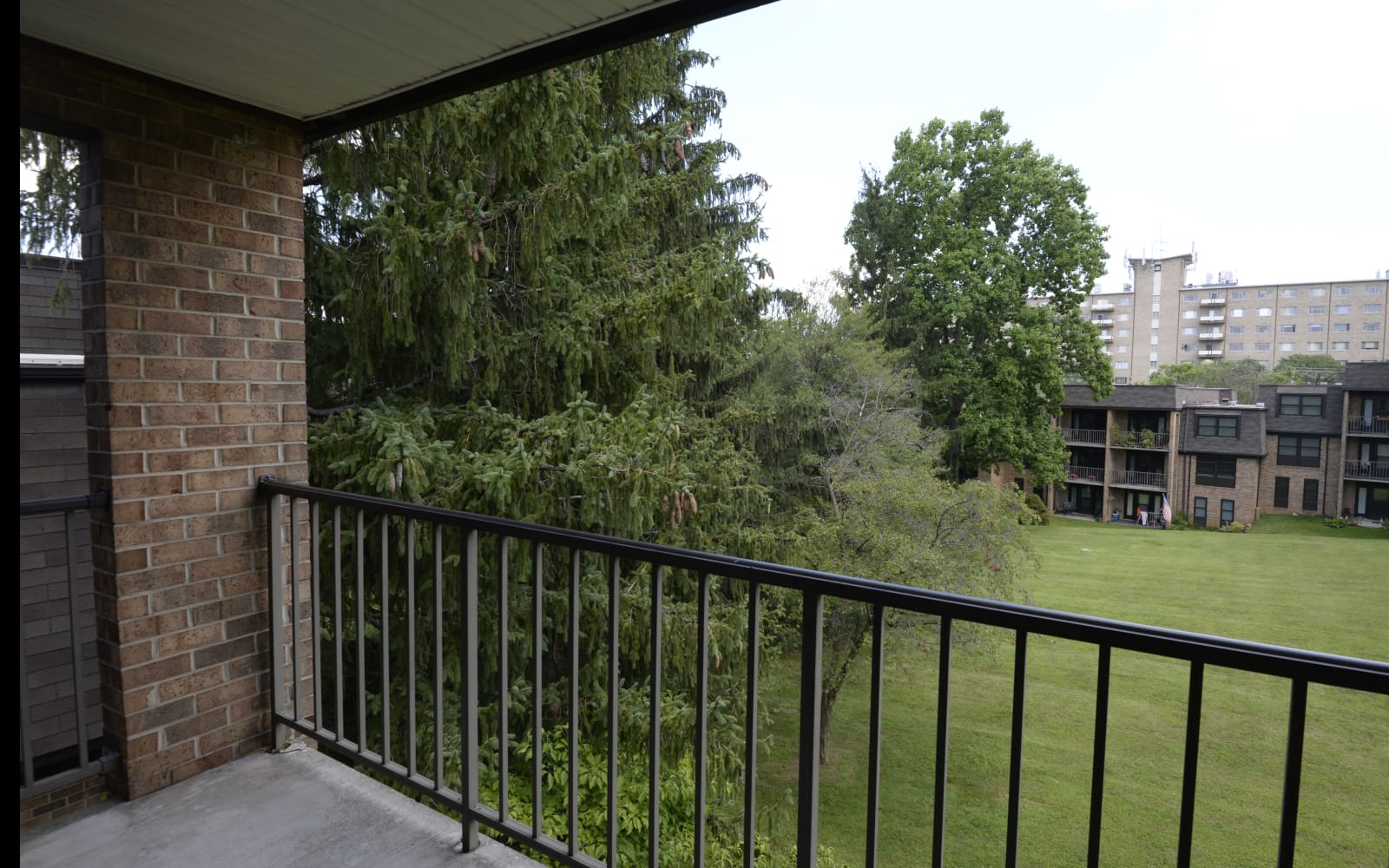 Private balcony at Charlesgate Apartments in Towson, Maryland