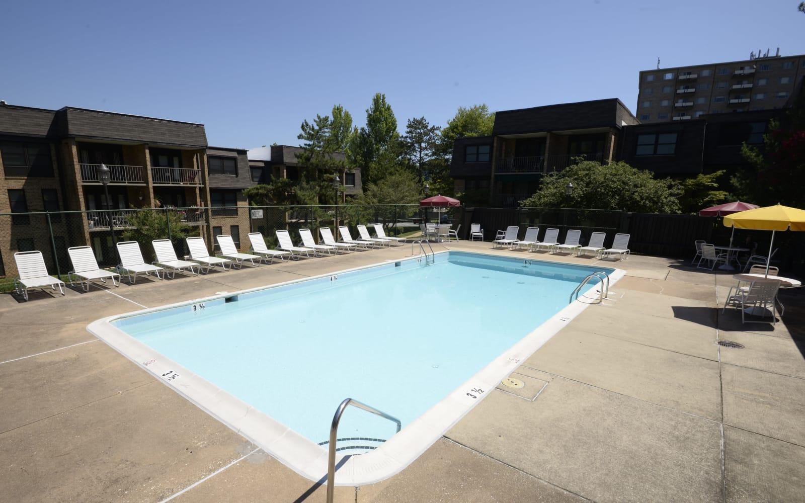 Beautiful swimming pool at Charlesgate Apartments in Towson, Maryland