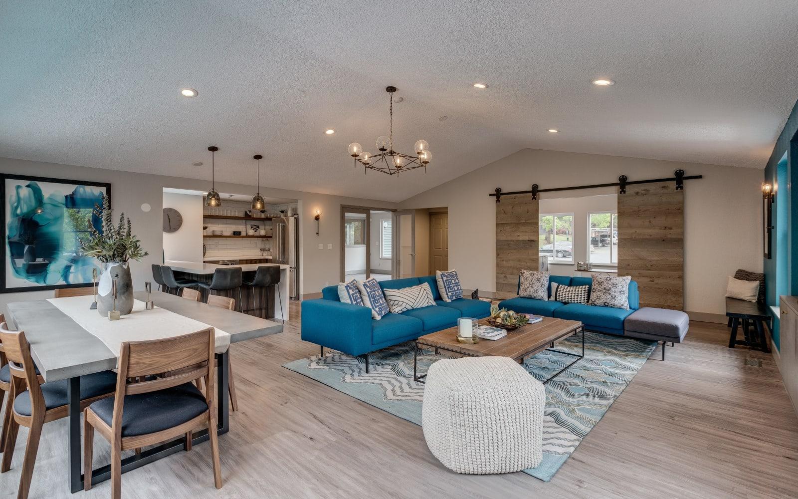 Open-concept floor plan at Alaire Apartments in Renton, Washington