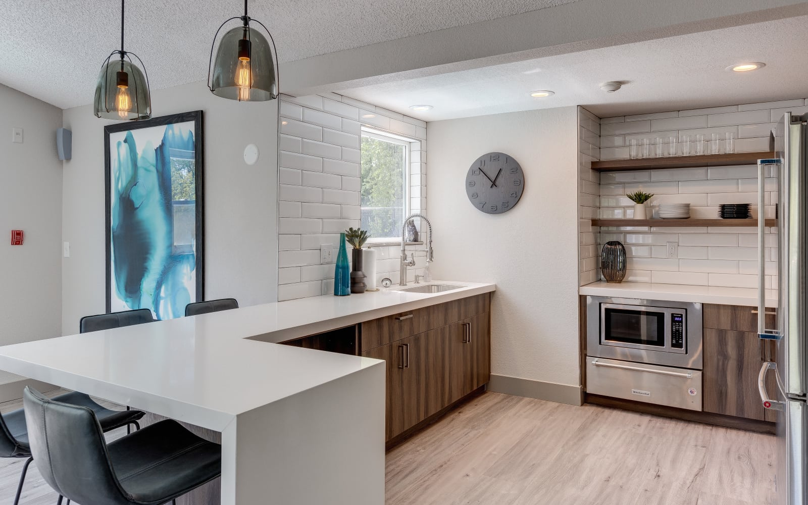 Kitchen with state-of-the-art appliances at Alaire Apartments in Renton, Washington
