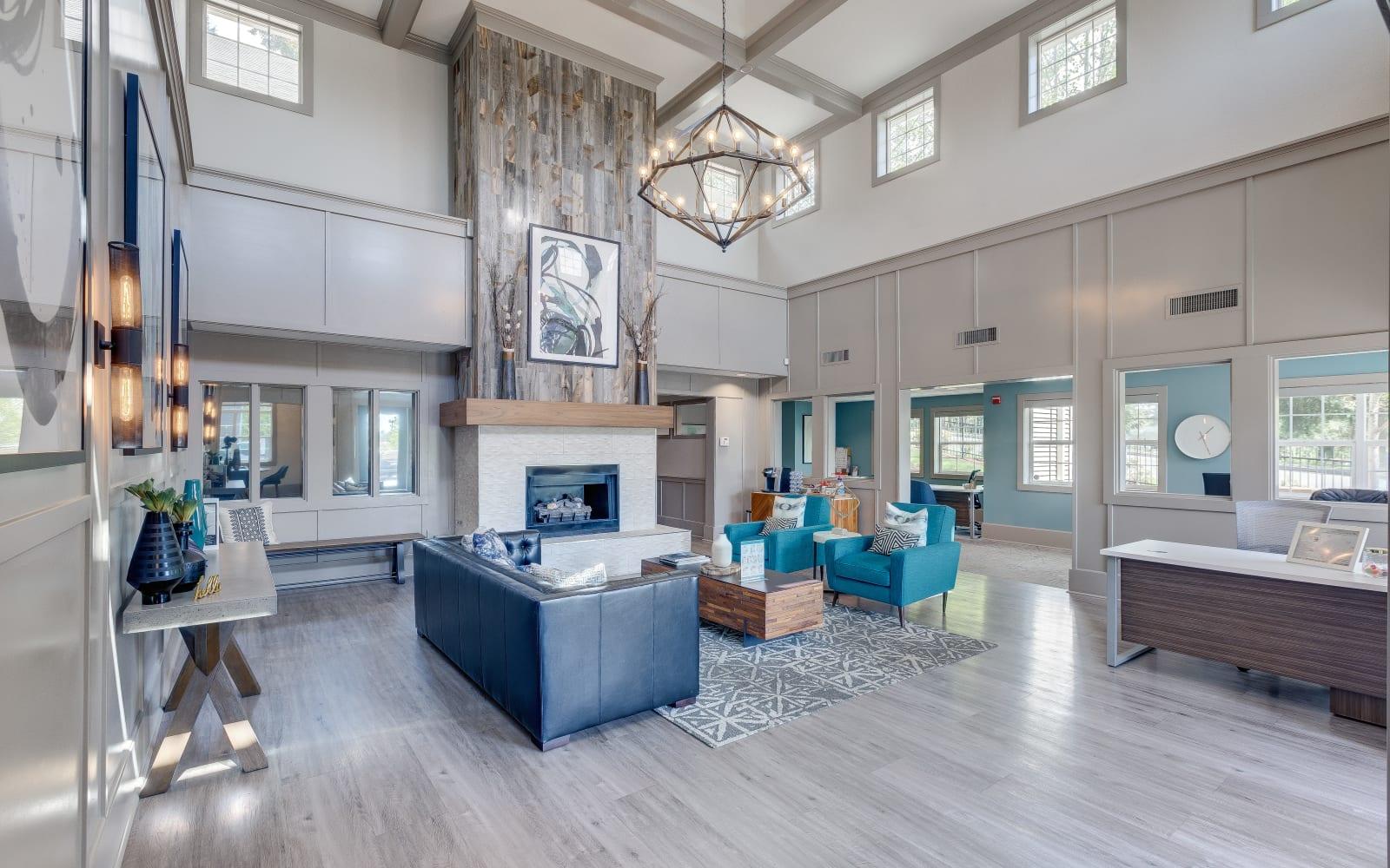 Spacious open area with plenty of seating at Alaire Apartments in Renton, Washington