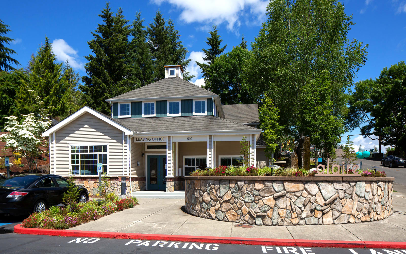 Leasing office at Alaire Apartments in Renton, Washington