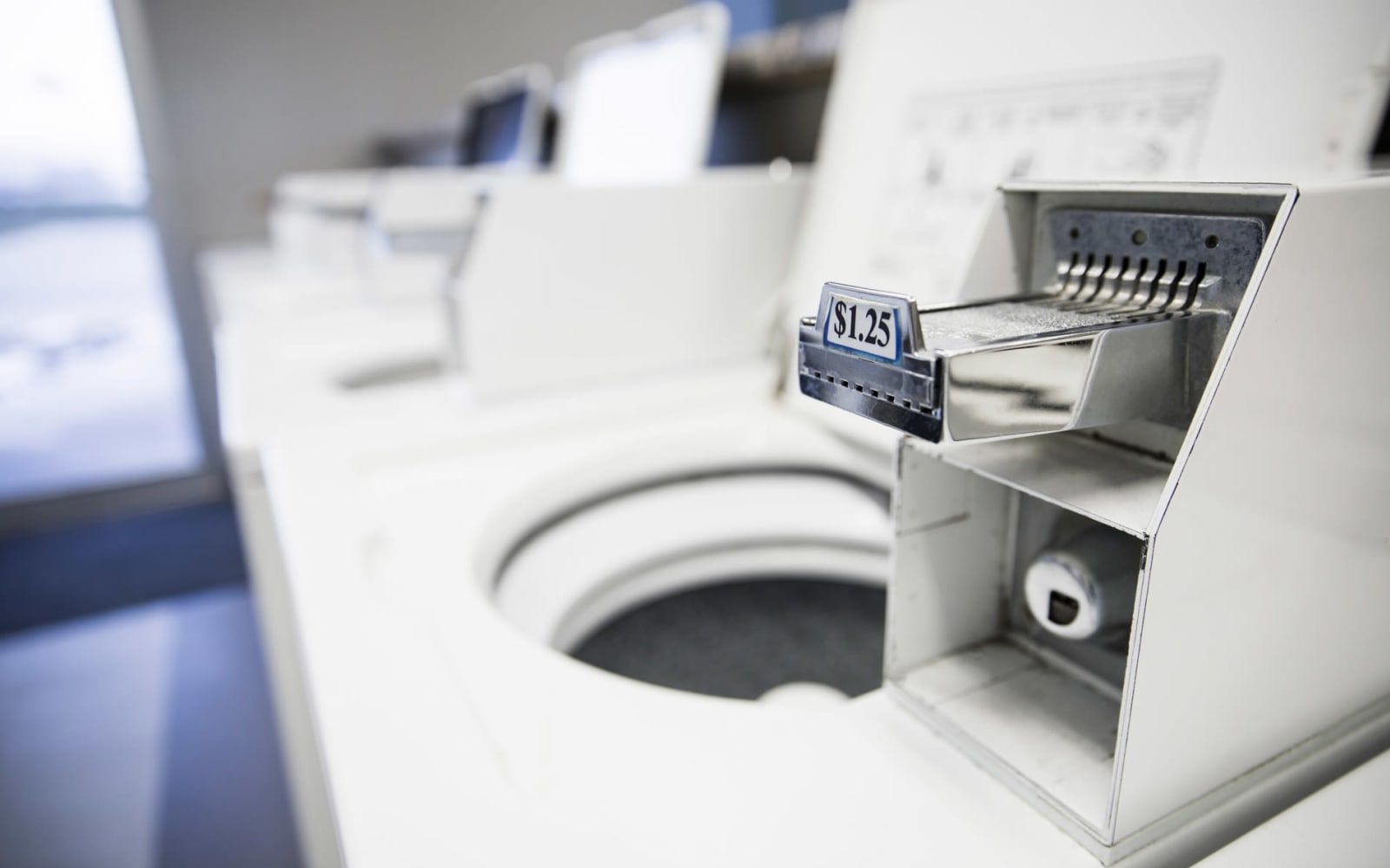 Quarter operated washing machines at Campus View & Kirkwood Court in Cedar Rapids, Iowa