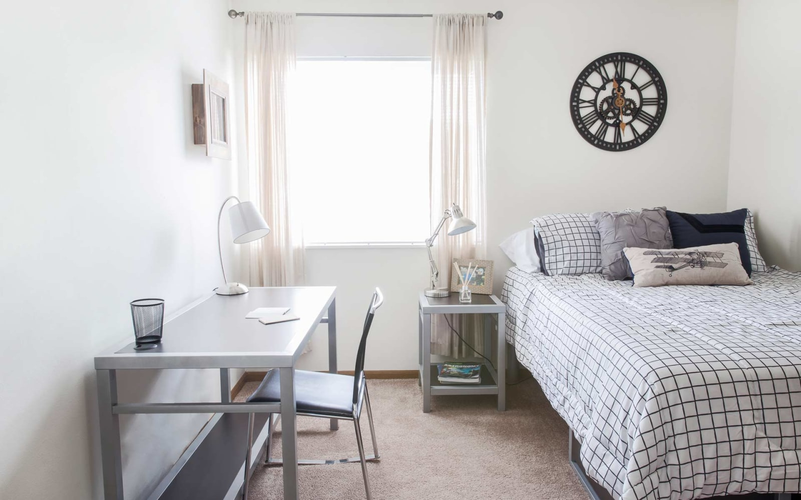 A bedroom with a view at Prairie Reserve in Cedar Rapids, Iowa