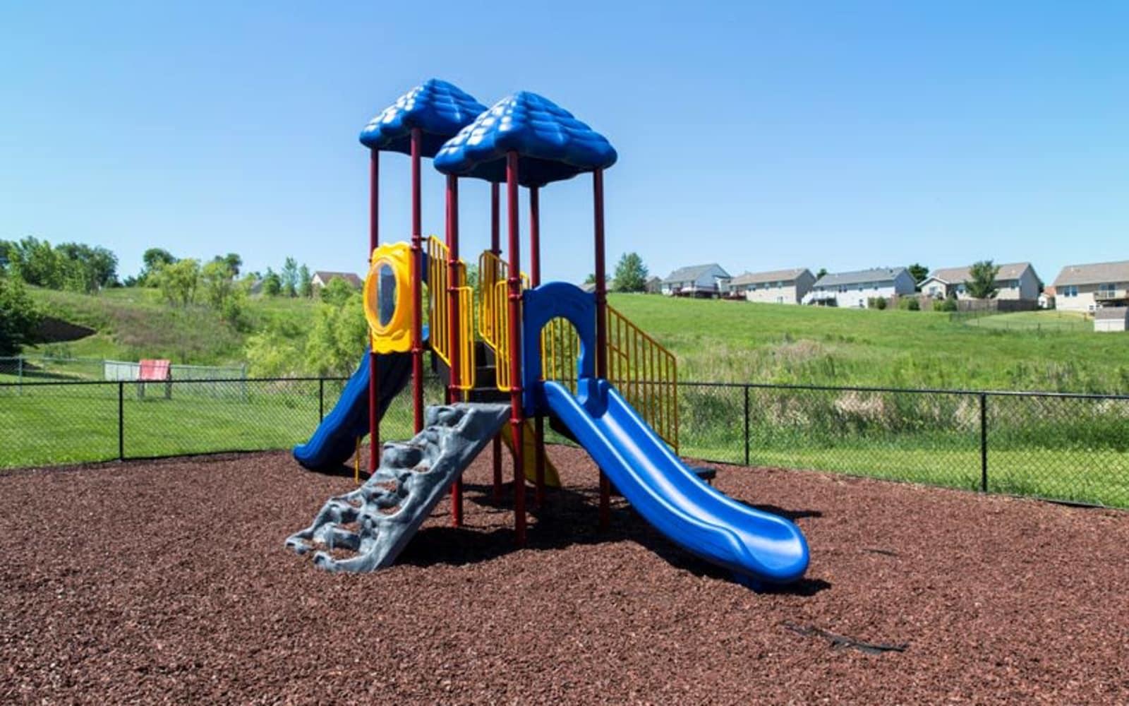 Community playground at Prairie Reserve in Cedar Rapids, Iowa