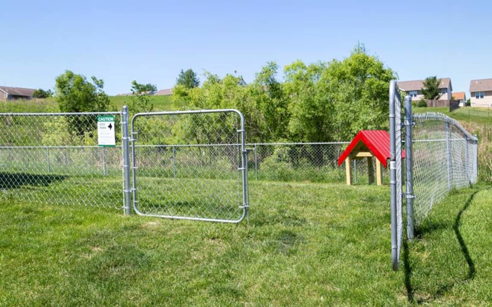 Dog park at Prairie Reserve in Cedar Rapids, Iowa