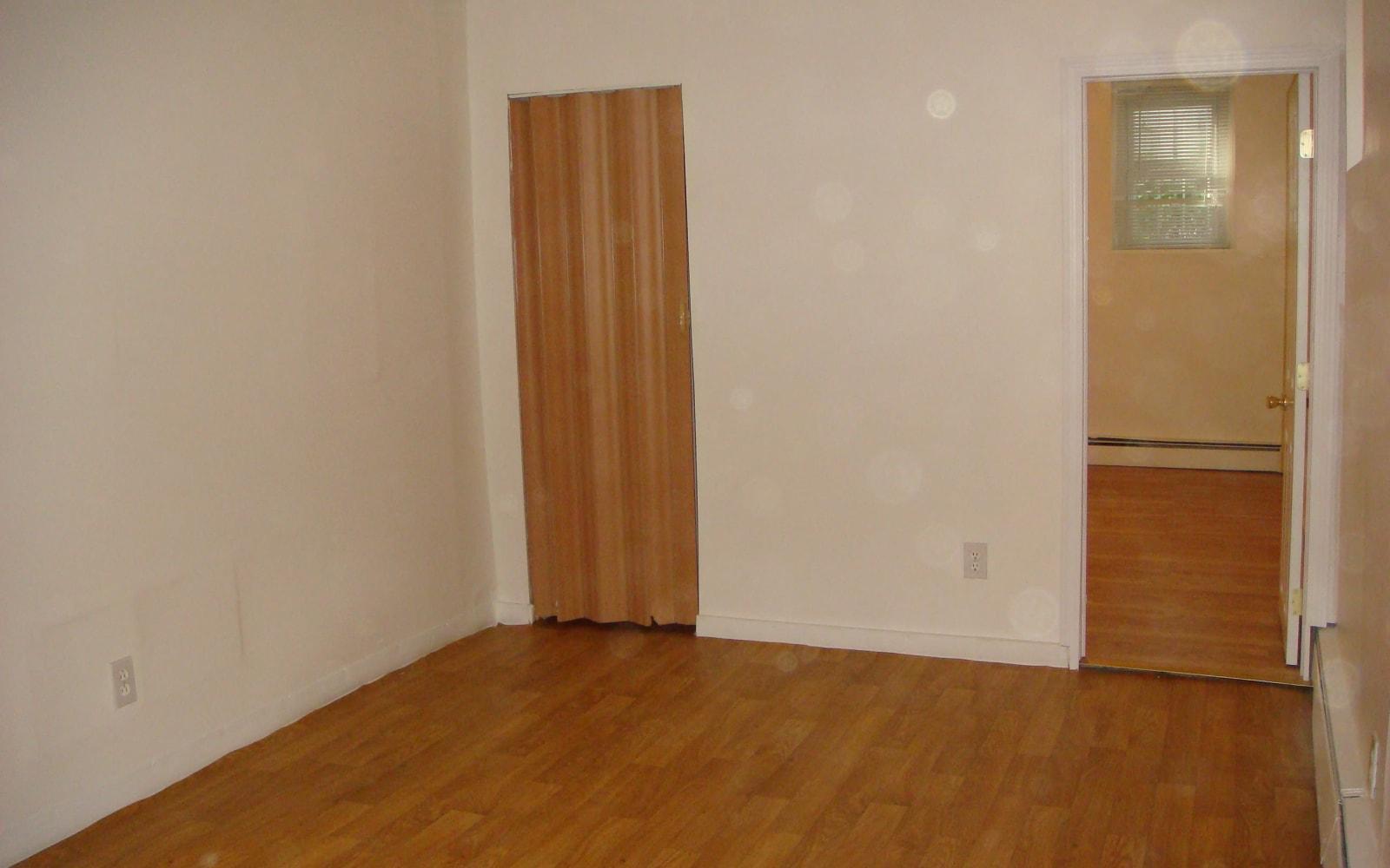 Closet in the bedroom at 400 Atlantic in Bridgeport, Connecticut