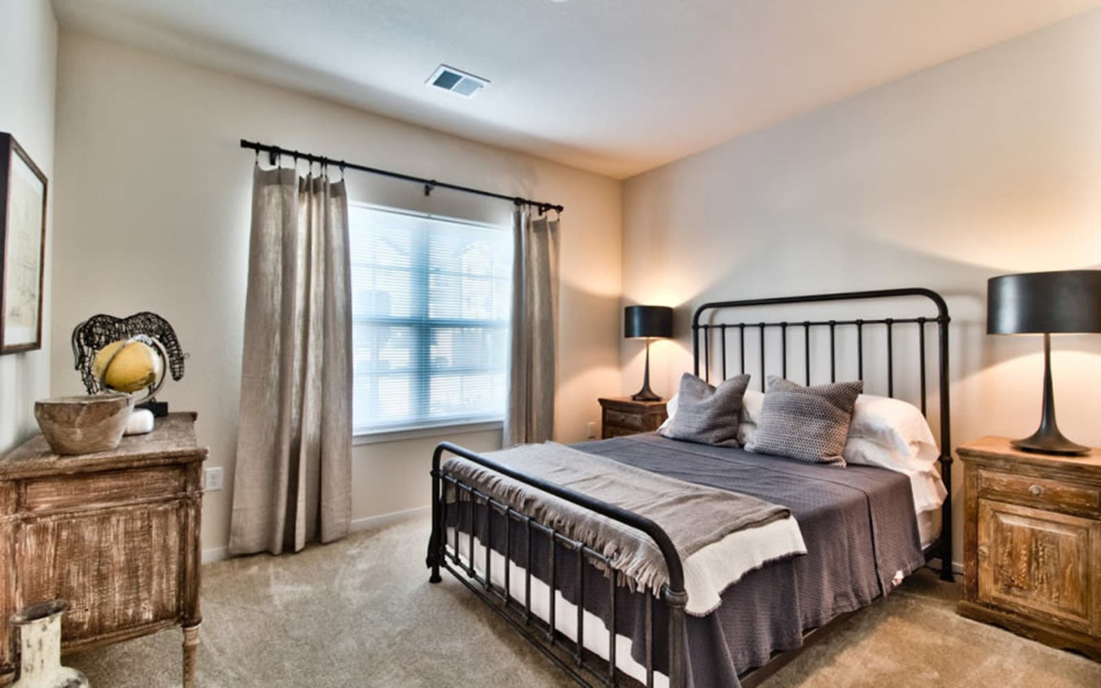 Bedrooms with natural light at Aventura at Mid Rivers in Saint Charles, Missouri.