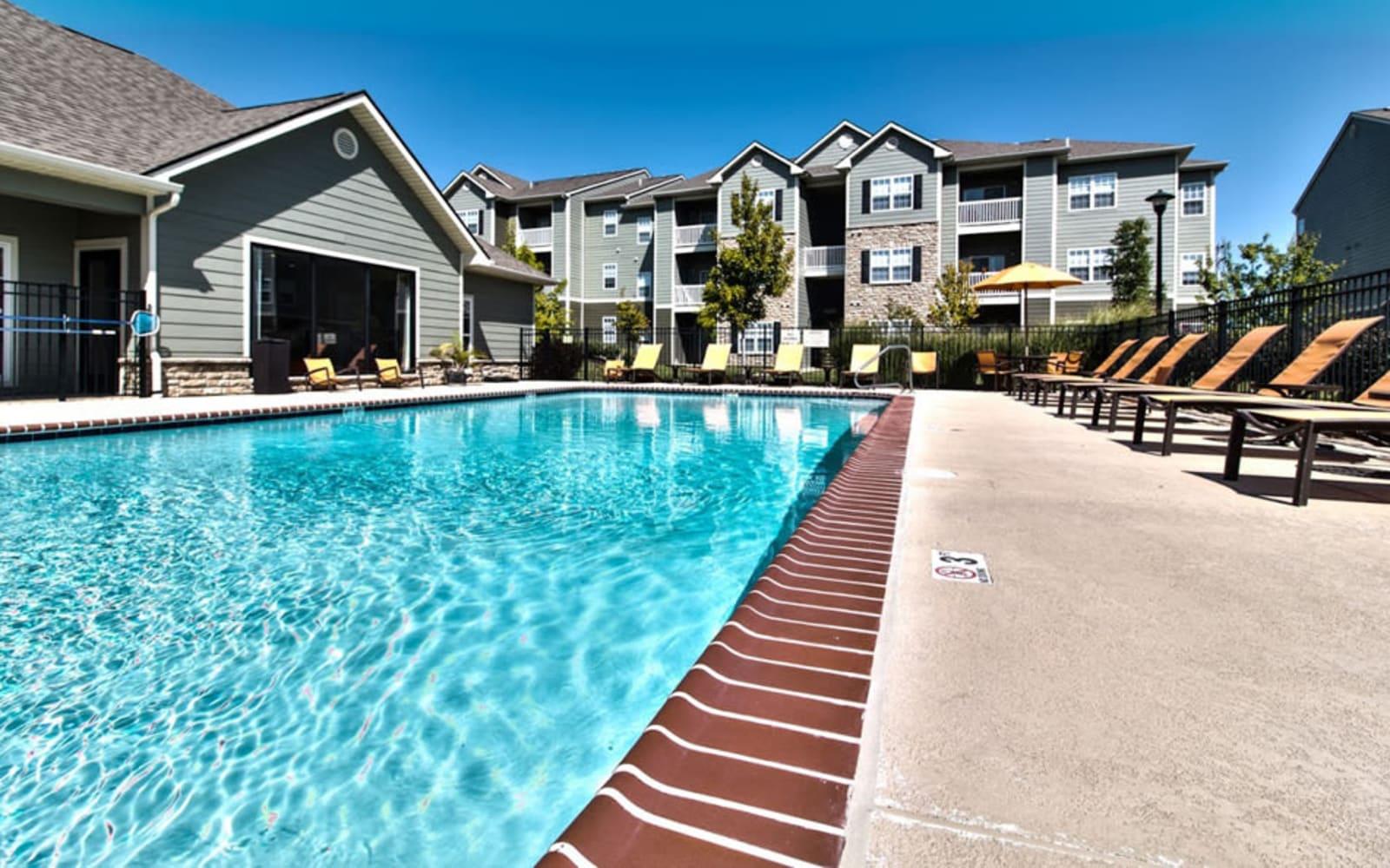 Large resident swimming pool at Aventura at Richmond in Saint Peters, Missouri