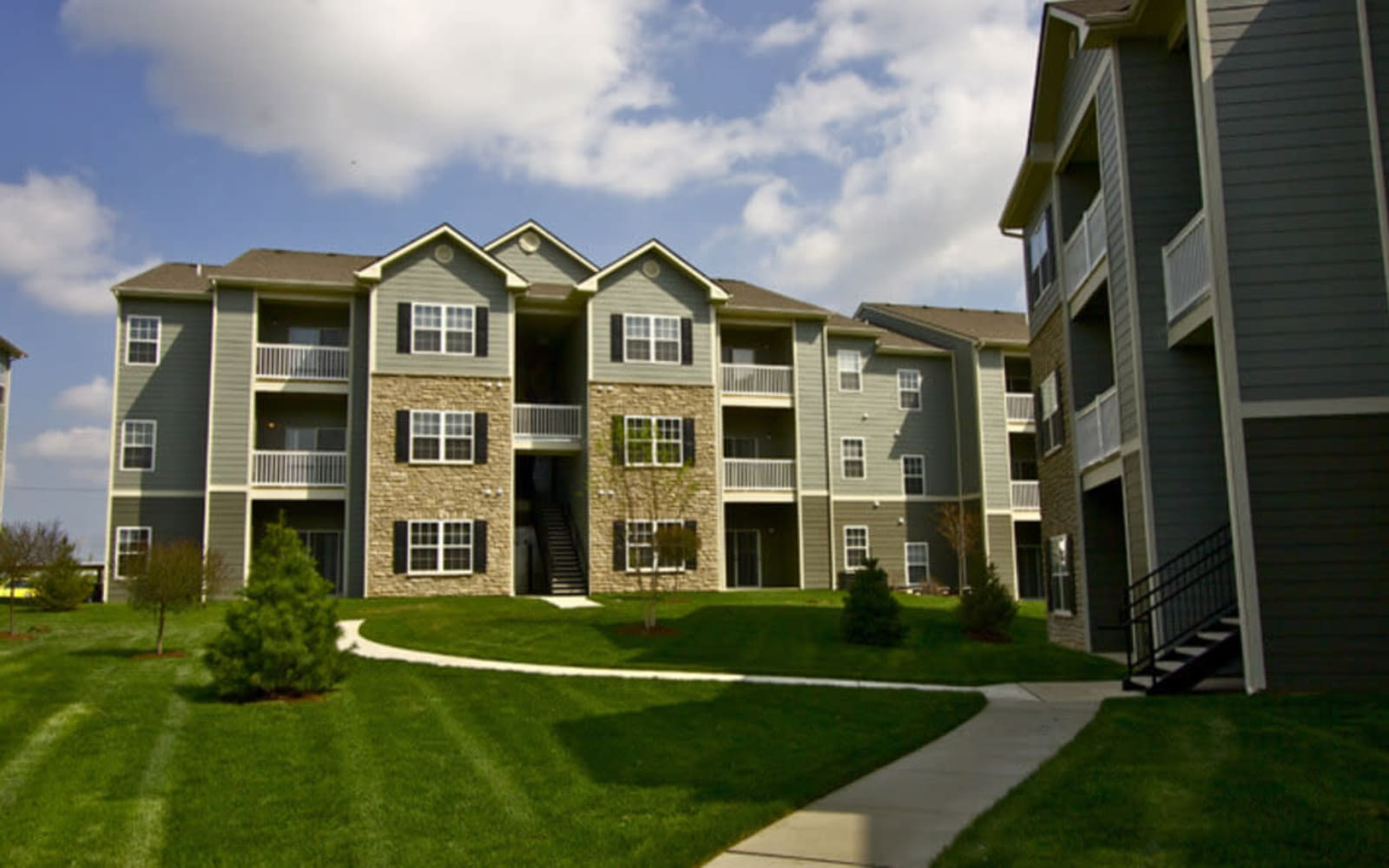 Variety of floor plans offered at Aventura at Richmond in Saint Peters, Missouri.
